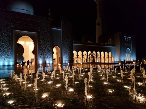 Evening hours in the Grand Mosque
