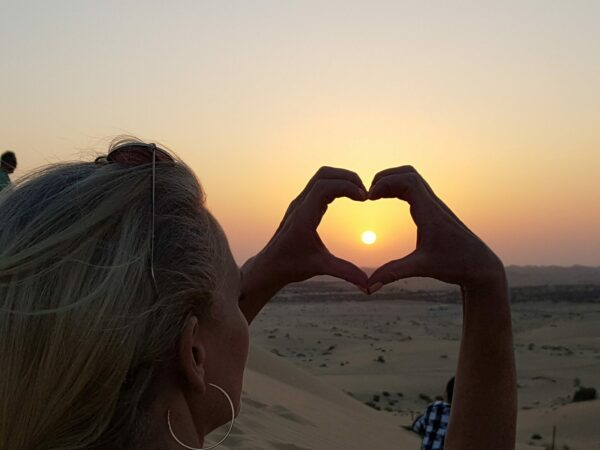 Sunset Viewing in the Desert